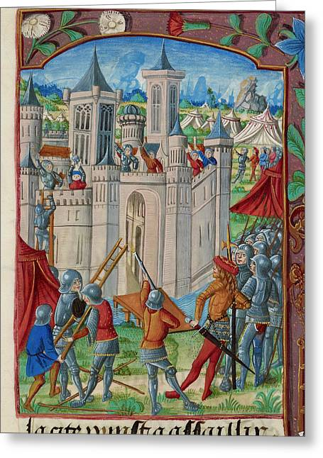 The Siege Of Acre Greeting Card by British Library