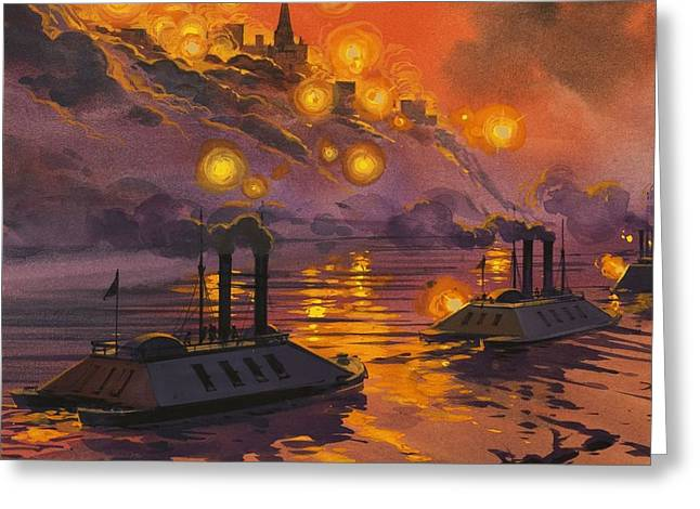American Fleet Greeting Cards - The Siege Of Vicksburg Greeting Card by Angus McBride