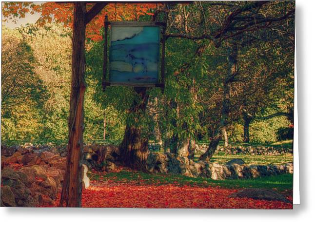 the sign of fall colors Greeting Card by Jeff Folger