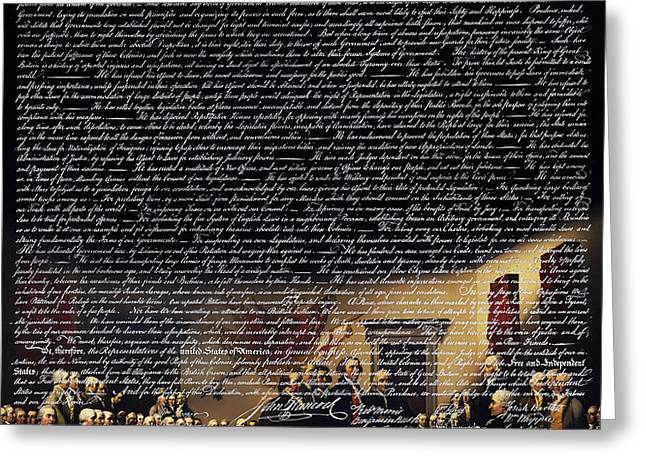 The Signing of The United States Declaration of Independence v2 Greeting Card by Wingsdomain Art and Photography