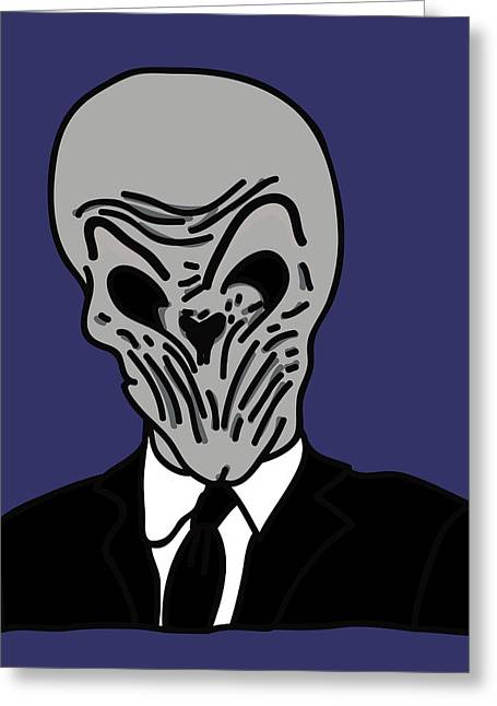Dr. Who Greeting Cards - The Silence Greeting Card by Jera Sky