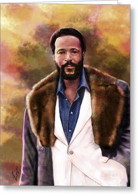 The Silky Silky Soul Singer - Marvin Gaye  Greeting Card by Reggie Duffie