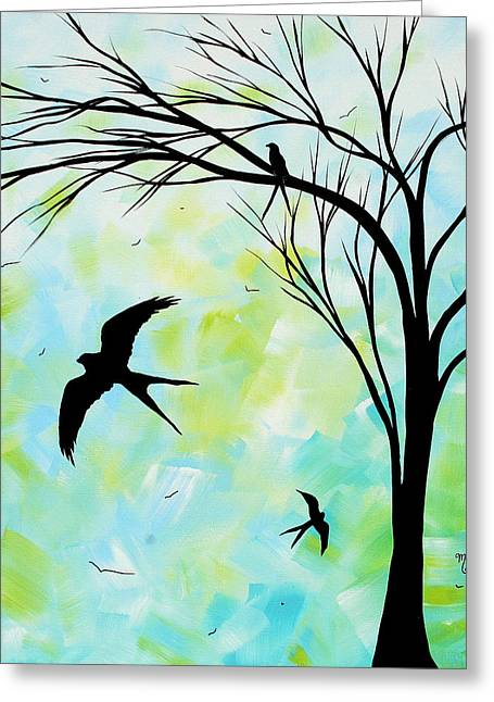 Swallow Tail Greeting Cards - The Simple Life by MADART Greeting Card by Megan Duncanson