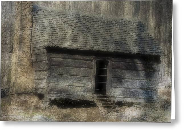 Log Cabins Greeting Cards - The Simple Life Greeting Card by Ken Johnson