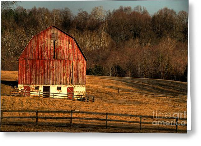 Old Barns Greeting Cards - The Simple Life Greeting Card by Lois Bryan