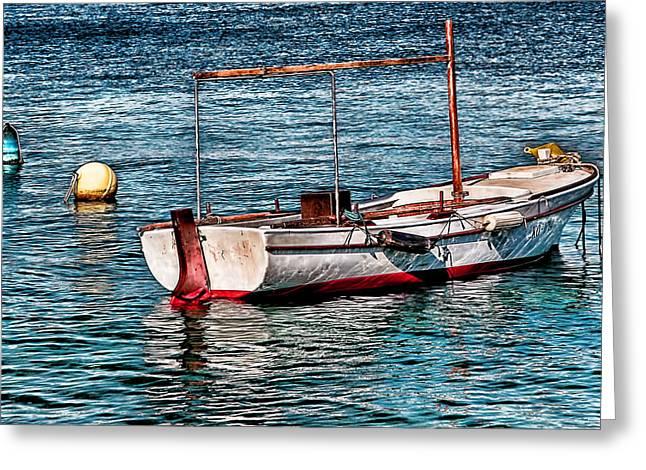 Ocean Images Digital Art Greeting Cards - The simple life Mykonos Greeting Card by Tom Prendergast