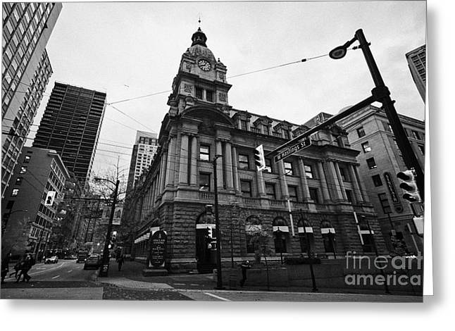 North Vancouver Greeting Cards - the sinclair centre former post office building west hastings and granville downtown Vancouver BC Ca Greeting Card by Joe Fox