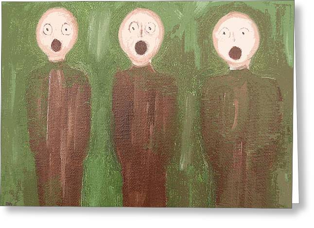 Trio Mixed Media Greeting Cards - The Singers Greeting Card by Patrick J Murphy