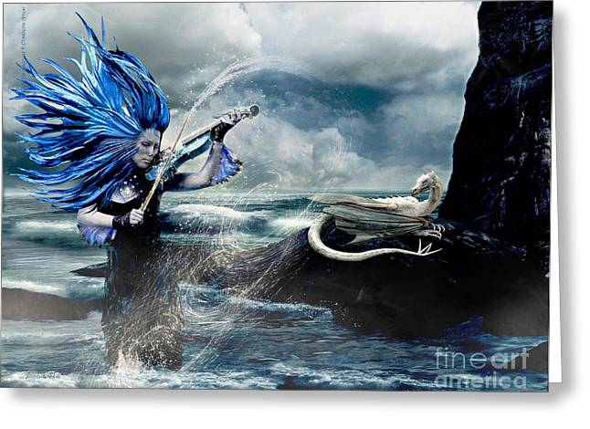 Betta Greeting Cards - The Sirens Song Greeting Card by Betta Artusi