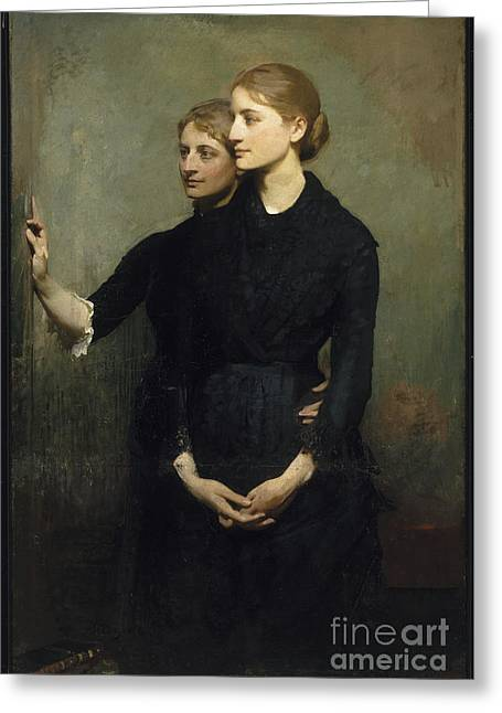 Abbott Greeting Cards - The Sisters Greeting Card by Abbott H Thayer