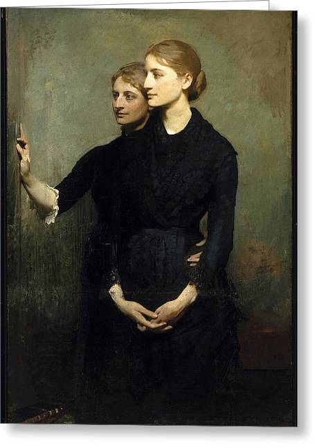 Abbott Greeting Cards - The Sisters Greeting Card by Abbott Handerson Thayer