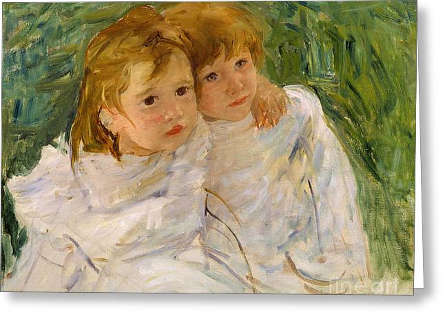 Cassatt Paintings Greeting Cards - The Sisters Greeting Card by Mary Cassatt