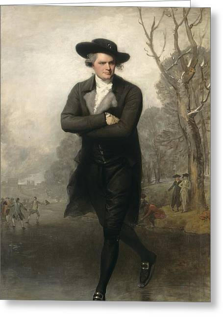 The Skater Portrait Of William Grant Greeting Card by Gilbert Stuart