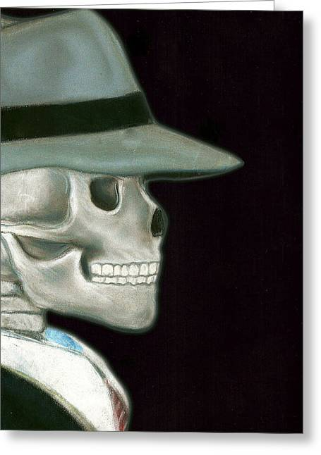 Black Tie Pastels Greeting Cards - The Skentleman Greeting Card by Tanysha Bennett-Wilson