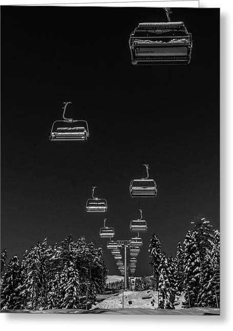 Ski Lift Greeting Cards - The Ski Lift Greeting Card by Mountain Dreams