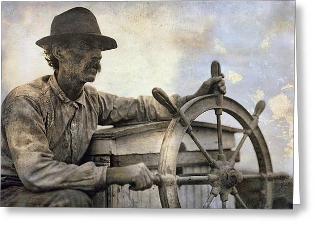 Old Man And The Sea Greeting Cards - The Skipper  1911 Greeting Card by Daniel Hagerman