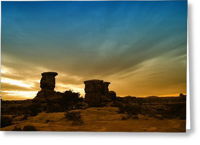 Canyon Lands Greeting Cards - The Sky At Canyonlands Greeting Card by Jeff  Swan
