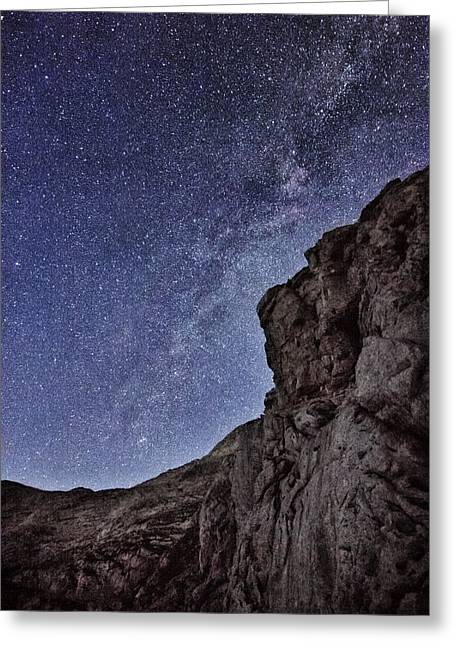 Forest At Night Greeting Cards - The Sky at Night Greeting Card by Ian Hufton