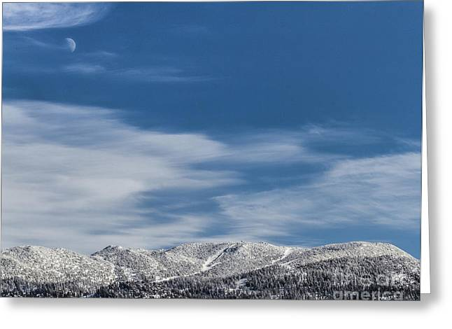 Ski Art Greeting Cards - The Sky Chair  Greeting Card by Mitch Shindelbower