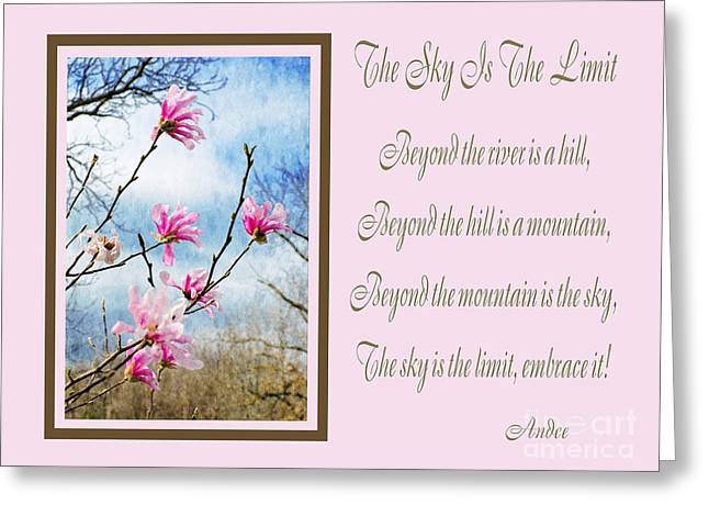 The Hills Greeting Cards - The Sky Is The Limit H 1 Greeting Card by Andee Design