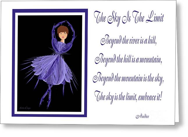 The Hills Greeting Cards - The Sky Is The Limit H 7 Greeting Card by Andee Design