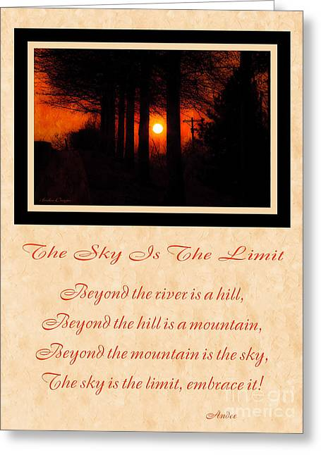 The Hills Greeting Cards - The Sky Is The Limit V 2 Greeting Card by Andee Design