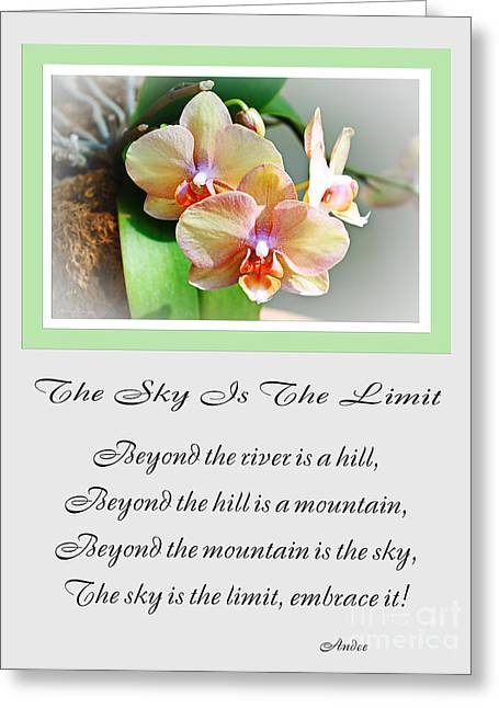 The Hills Greeting Cards - The Sky Is The Limit V 4 Greeting Card by Andee Design