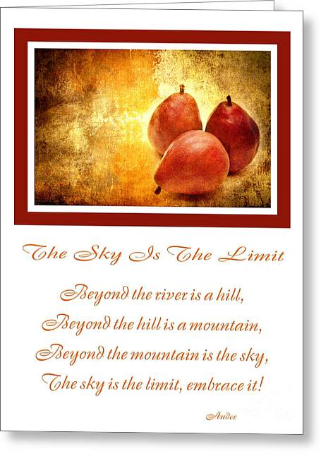 The Hills Greeting Cards - The Sky Is The Limit V 8 Greeting Card by Andee Design