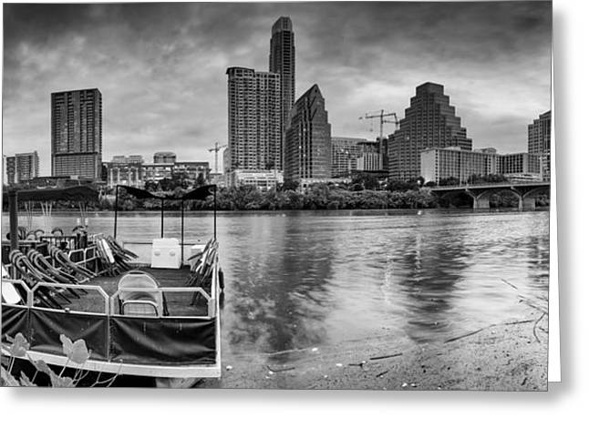 First-lady Greeting Cards - The Sky is will be crying Austin Texas Skyline Greeting Card by Silvio Ligutti