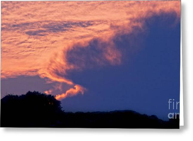 Beautiful Dusk Greeting Cards - The Sky On Fire Greeting Card by Stylianos Kleanthous