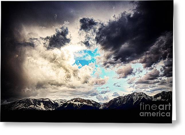 Mountain Road Greeting Cards - The Sky Over Mountains Greeting Card by Andrew Brooks