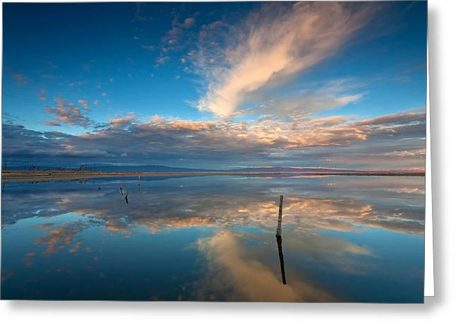 Big Sky Greeting Cards - The Sky Whispered Greeting Card by Peter Tellone