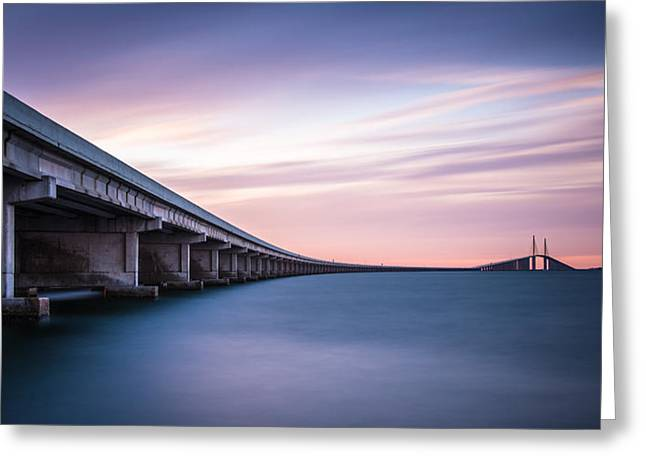 St Petersburg Florida Greeting Cards - The Skyway Greeting Card by Clay Townsend