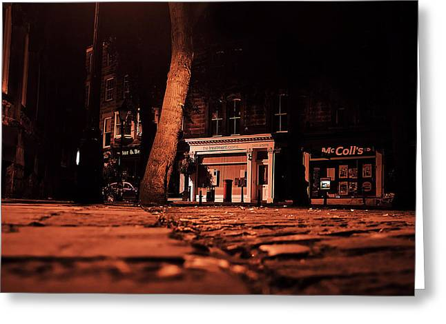 Ground Level Photographs Greeting Cards - The Sleeping City Greeting Card by Mountain Dreams