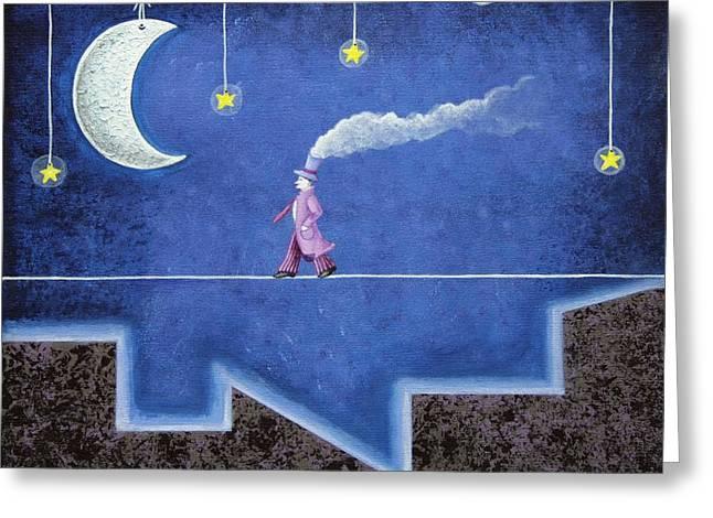 The Sleepwalker I Greeting Card by Graciela Bello