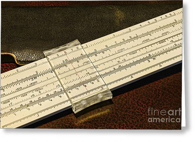 Drafting Greeting Cards - The Slide Rule Greeting Card by Paul Ward