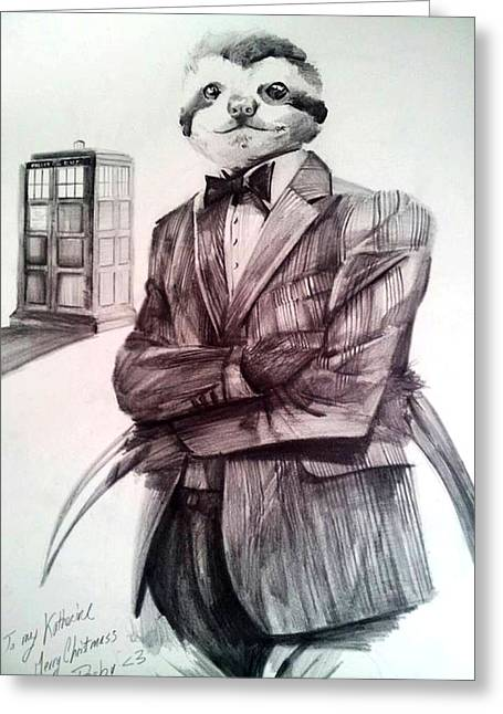 The Sloth Doctor Greeting Card by Neal Cormier