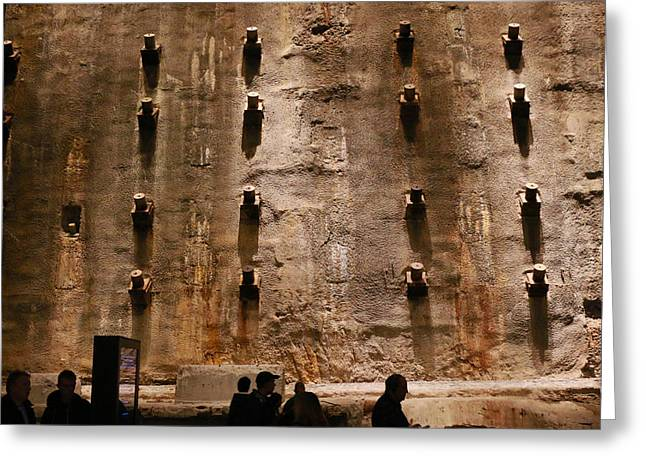Stabilization Greeting Cards - The Slurry Wall Greeting Card by Allen Beatty