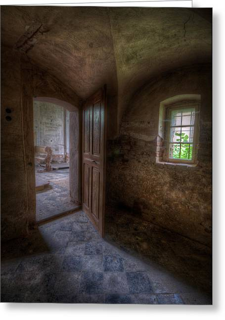 Ancient Ruins Greeting Cards - The small room Greeting Card by Nathan Wright