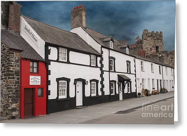 Welch Greeting Cards - The Smallest House in Great Britain Greeting Card by Juli Scalzi