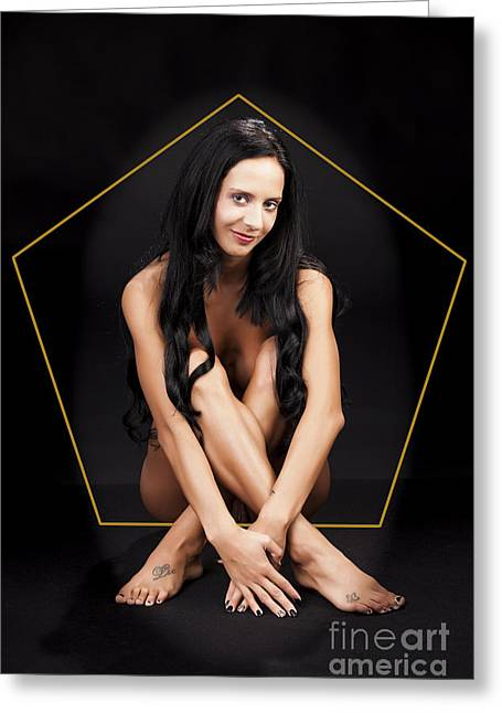 Erotic Greeting Cards - The Smile 1063.02 Greeting Card by Kendree Miller