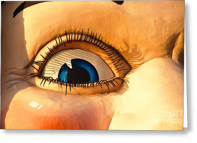 Cole Greeting Cards - The Smiling Eye of Happiness Greeting Card by David Hill