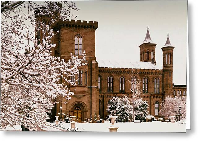 Smithsonian Greeting Cards - The Smithsonian Castle Greeting Card by Mountain Dreams