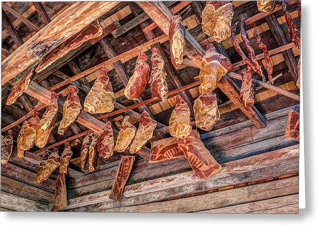 Food Safe Greeting Cards - The Smokehouse Greeting Card by Rob Sellers