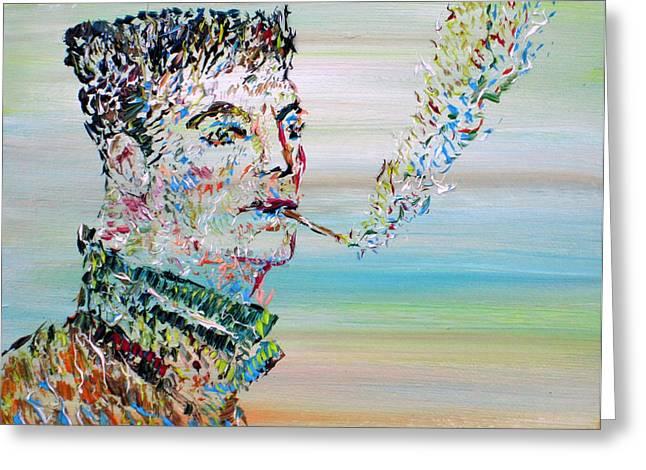 Smoker Greeting Cards - The Smoker Greeting Card by Fabrizio Cassetta
