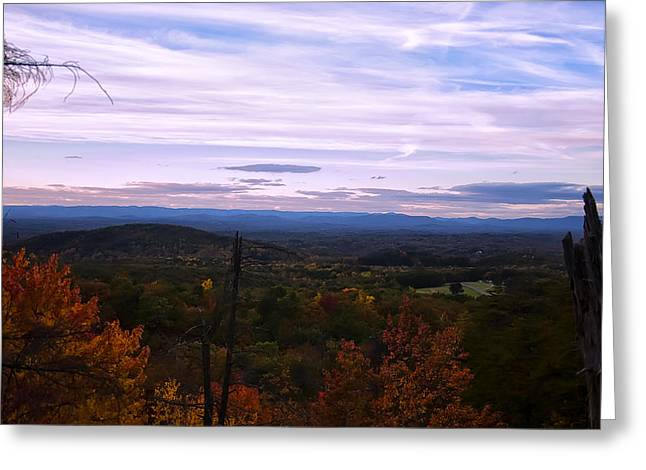 Landscape Posters Digital Greeting Cards - The Smokey Mountains From Hanging Rock State Park Greeting Card by Chris Flees