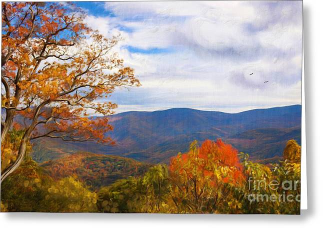 Gatlinburg Tennessee Greeting Cards - The Smokies Greeting Card by Lena Auxier