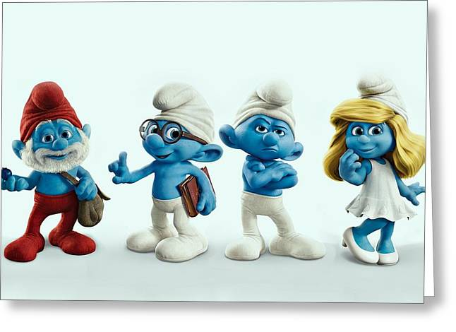 Smurfette Greeting Cards - The Smurfs Movie Greeting Card by Movie Poster Prints