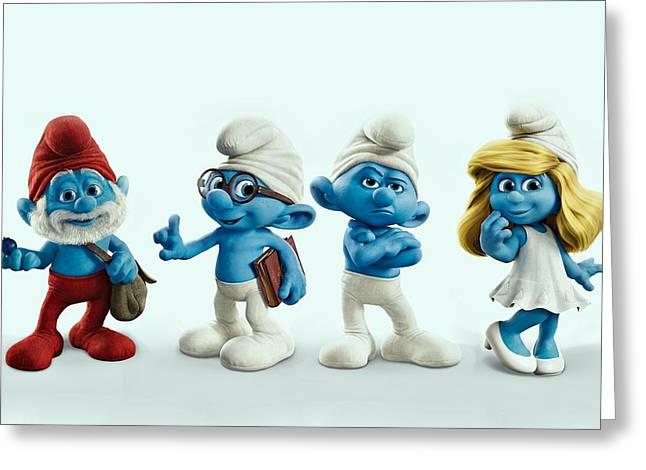 The Smurfs Movie Greeting Card by Movie Poster Prints