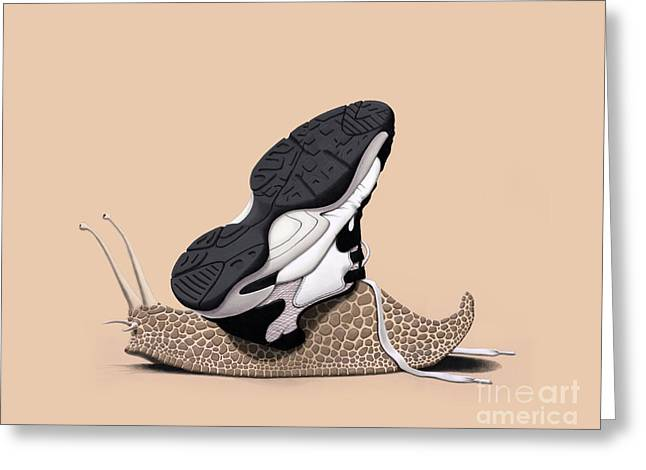 Antenna Mixed Media Greeting Cards - The Sneaker Colour Greeting Card by Rob Snow